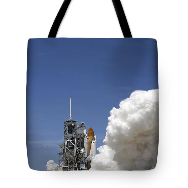 An Exhaust Plume Forms Around The Base Tote Bag by Stocktrek Images