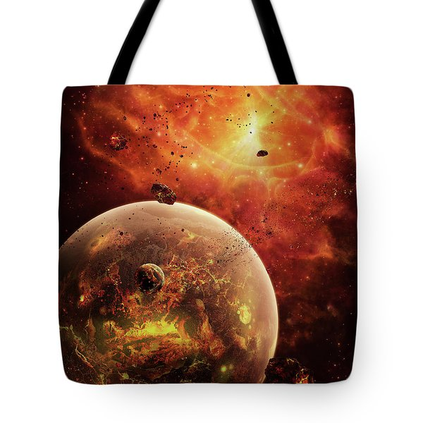 An Eye-shaped Nebula And Ring Tote Bag by Brian Christensen