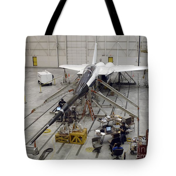 An F-15b Testbed Aircraft Undergoes Tote Bag by Stocktrek Images