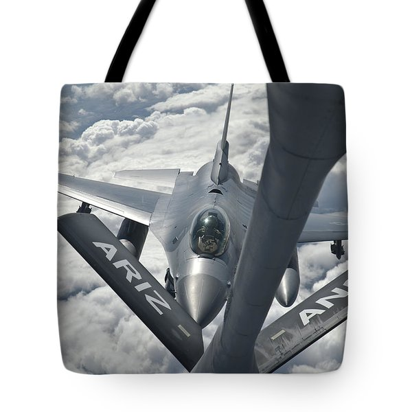 An F-16 From Colorado Air National Tote Bag by Giovanni Colla