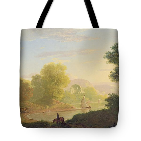 An Imaginary Coast Scene - With The Temple Of Venus At Baiae Tote Bag