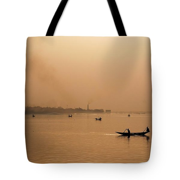 An Industrial Sunset Tote Bag