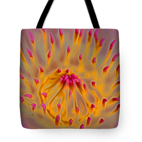 Tote Bag featuring the digital art An Inner Glow by Kerri Ligatich