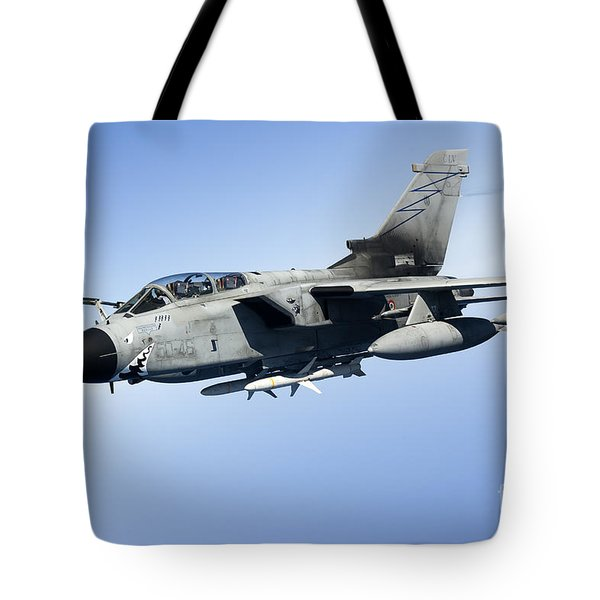 An Italian Air Force Tornado Ids Tote Bag by Gert Kromhout