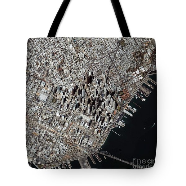 An Oblique-angle View Of San Franciscos Tote Bag by Stocktrek Images