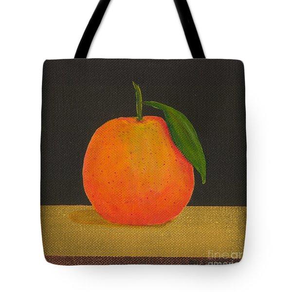 An Orange Tote Bag