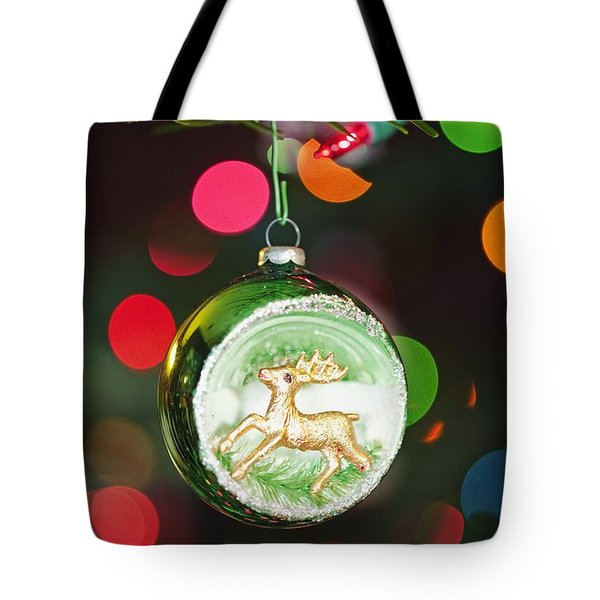 An Ornament With A Reindeer Hanging Tote Bag by Craig Tuttle
