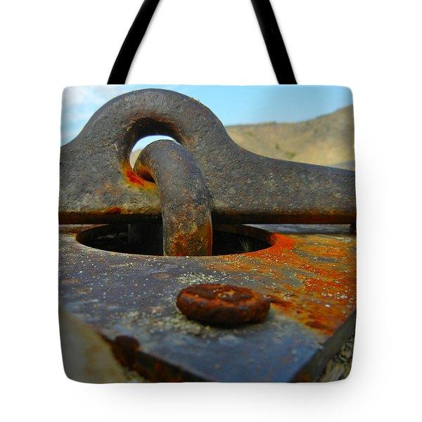 Anchored Down Tote Bag
