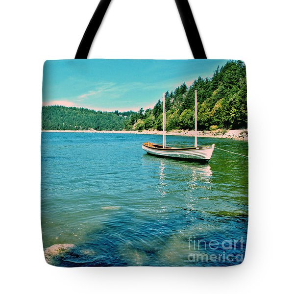 Tote Bag featuring the photograph Anchored In Bay by Michelle Joseph-Long