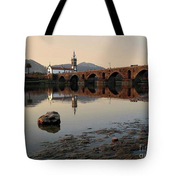 Ancient Bridge Tote Bag by Carlos Caetano