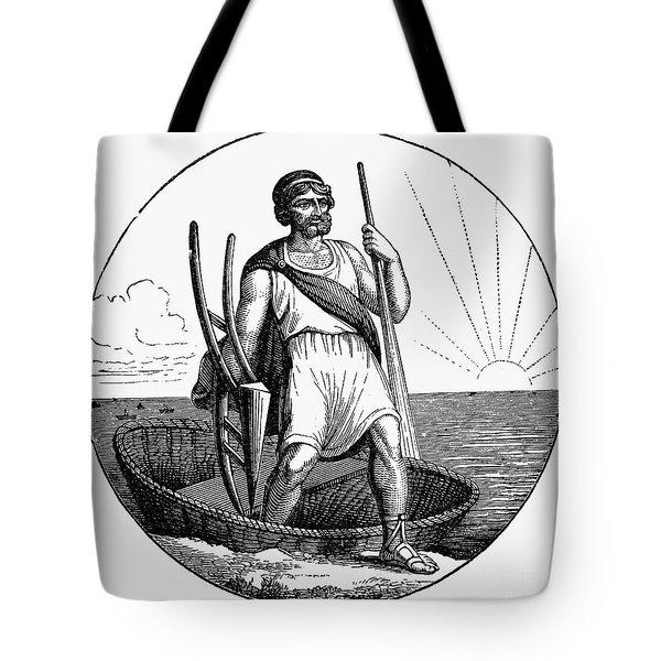 Ancient Briton Coracle Tote Bag by Granger