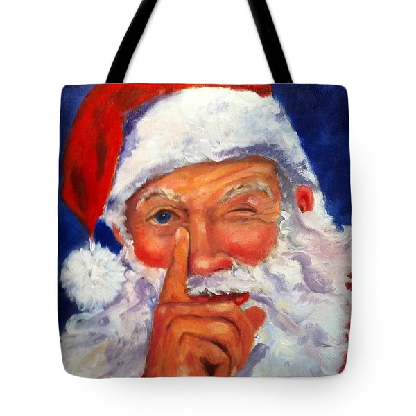 Tote Bag featuring the painting And Giving A Wink by Carol Berning