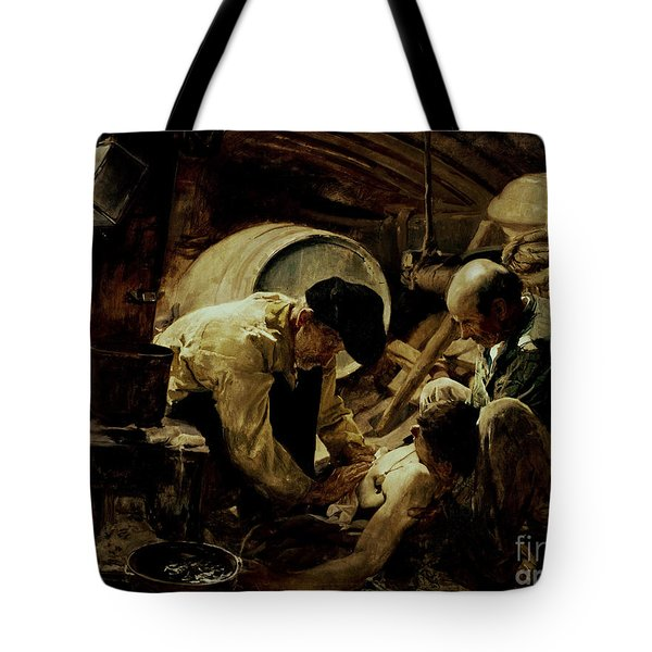 And They Still Say Fish Is Expensive Tote Bag by Joaquin Sorolla y Bastida
