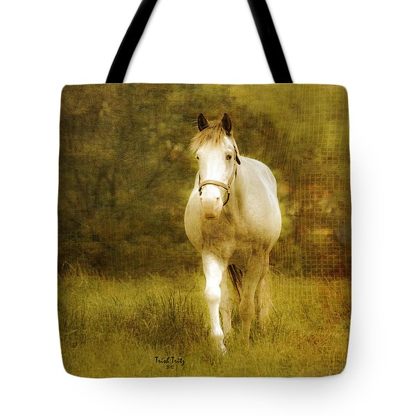 Andre On The Farm Tote Bag by Trish Tritz