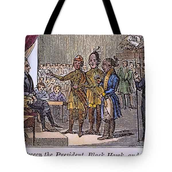 Andrew Jackson: Native Americans Tote Bag by Granger