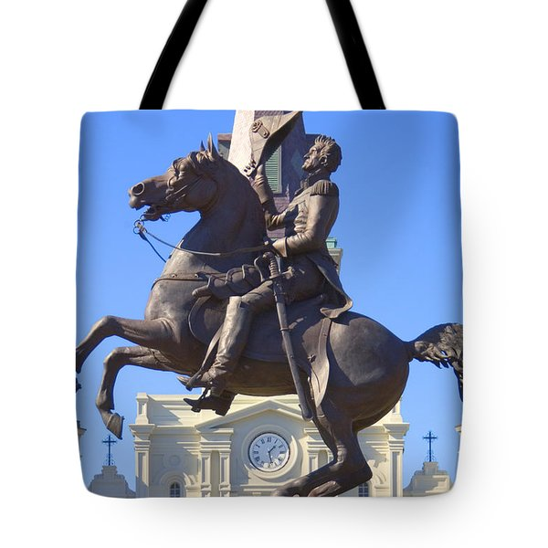 Andrew Jackson Statue Tote Bag