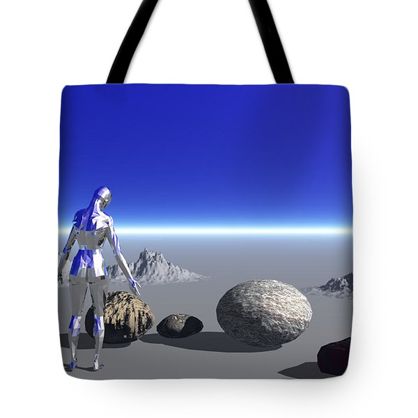 Android On The Blue Planet Tote Bag