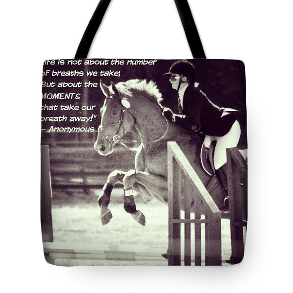 Andy And Chrissy Caber Farm Horse Tote Bag