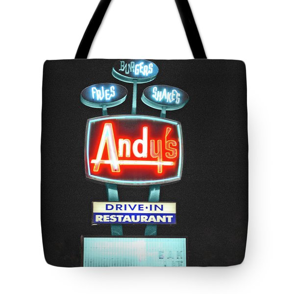 Andy's Drive-in Tote Bag by Jost Houk