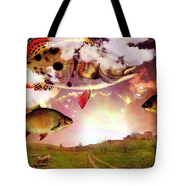 Angel Fish Tote Bag by Mark Ashkenazi