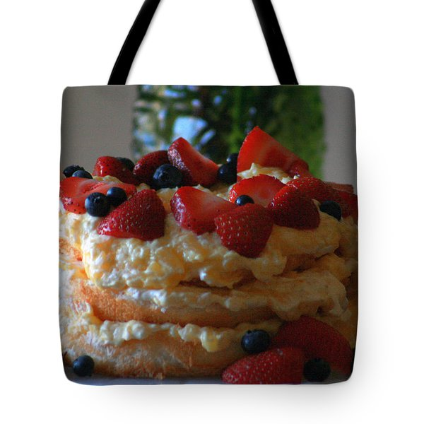 Tote Bag featuring the photograph Angel Food by Kay Novy