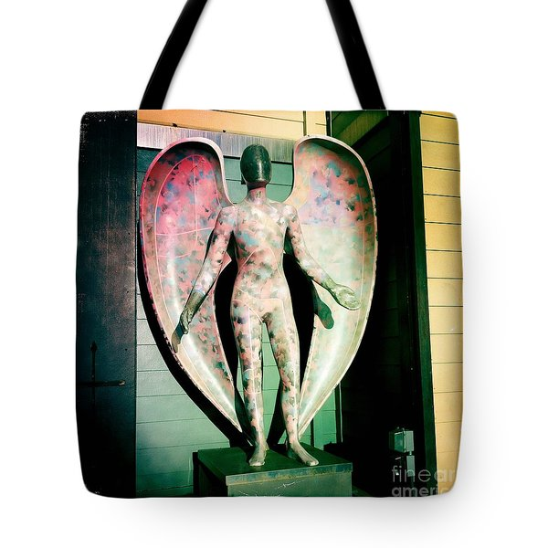 Tote Bag featuring the photograph Angel In The City Of Angels by Nina Prommer