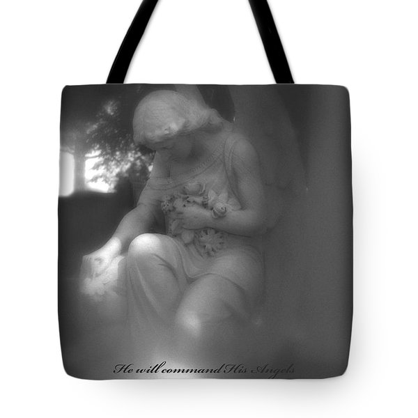 Angel Kneeling In Prayer - Inspirational Angel Art Tote Bag