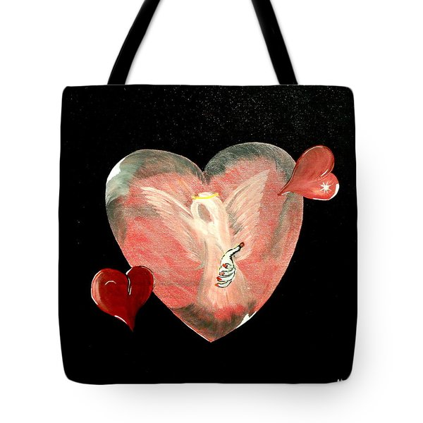 Angel Of Death Tote Bag by Mark Moore