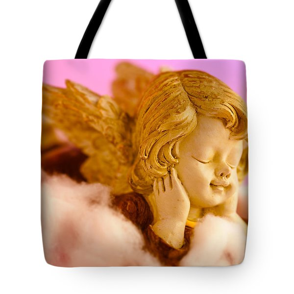 Angel Resting On Clouds And Enjoying The Sun Tote Bag by U Schade
