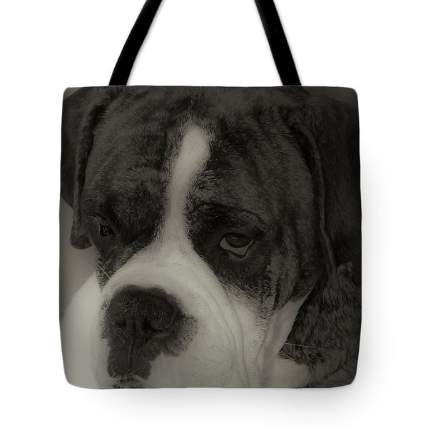 Angelic Boxer Tote Bag by DigiArt Diaries by Vicky B Fuller