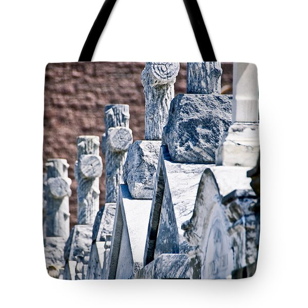 Angled Heahstones Tote Bag by Ray Laskowitz