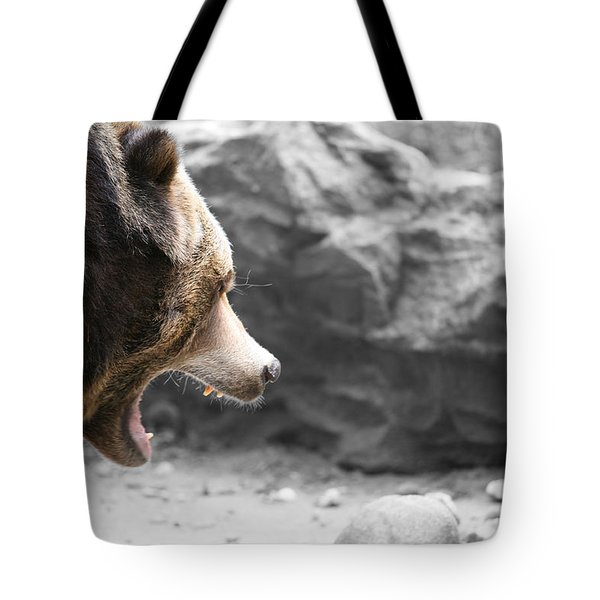 Angry Grizz Tote Bag by Karol Livote