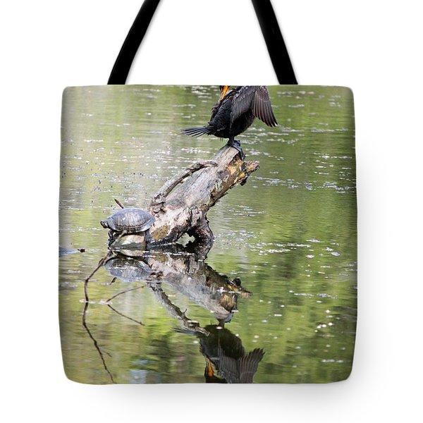 Anhinga And Turtle Tote Bag