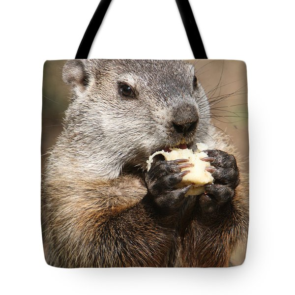 Animal - Woodchuck - Eating Tote Bag