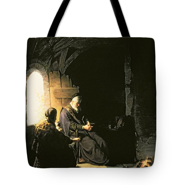 Anna And The Blind Tobit Tote Bag by Rembrandt Harmensz van Rijn