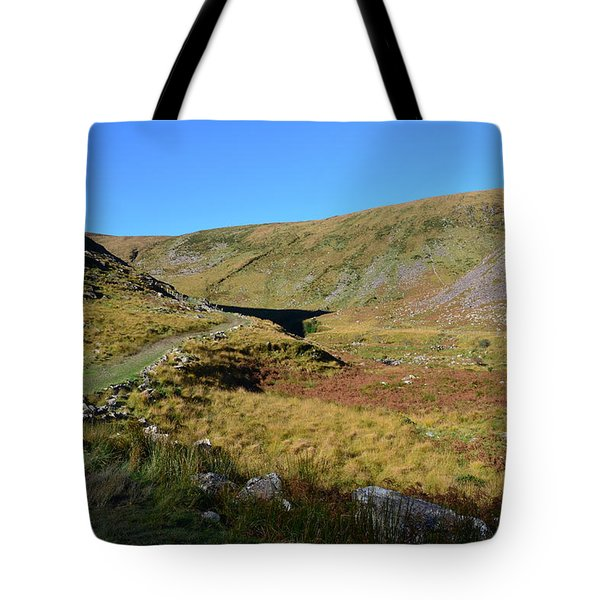 Annascaul Lake And Mountains Tote Bag by Barbara Walsh
