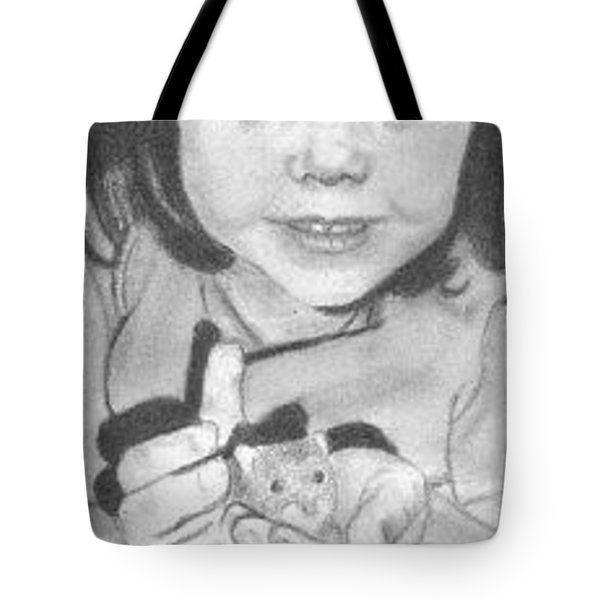 Tote Bag featuring the drawing Annie's Little Friend - Aceo by Ana Tirolese
