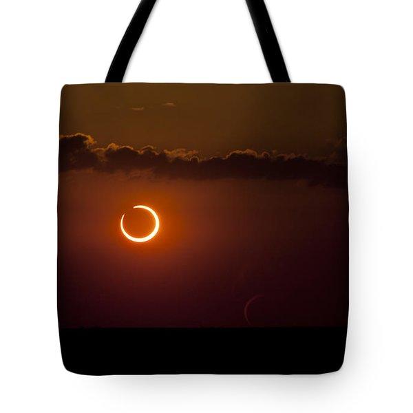 Annular Solar Eclipse Tote Bag by Phillip Jones