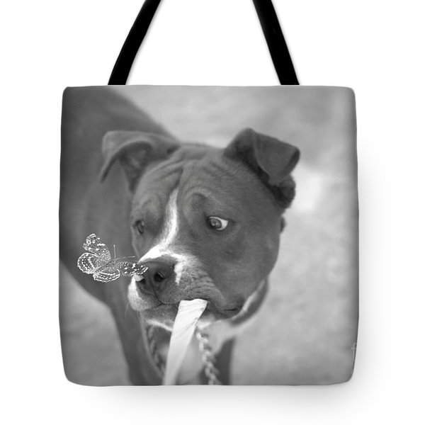 Tote Bag featuring the photograph Another Butterfly After My Friends Dog by John  Kolenberg