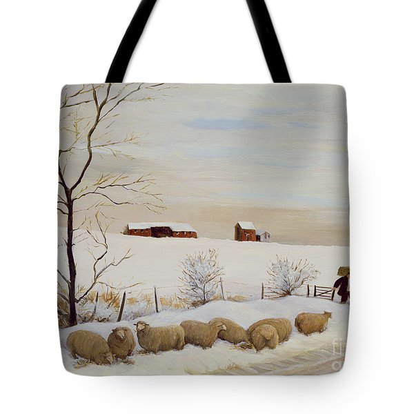 Another Hard Winter Tote Bag