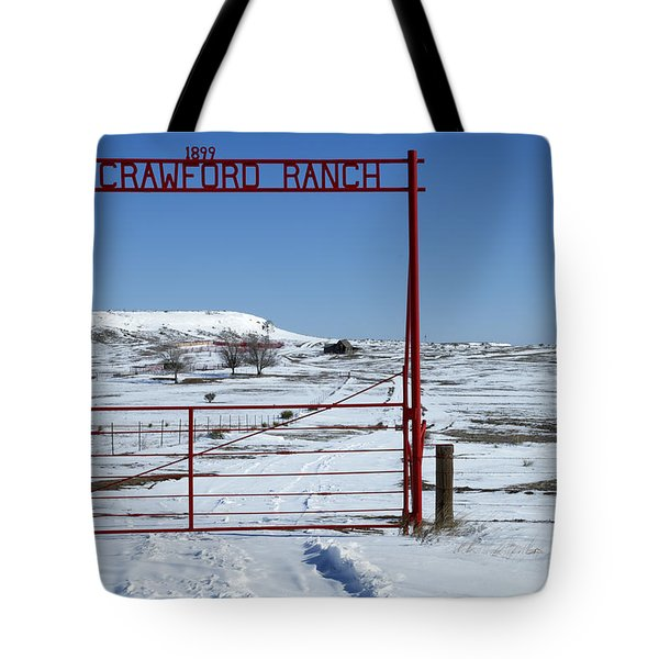 Another Snow On Crawford Ranch Tote Bag