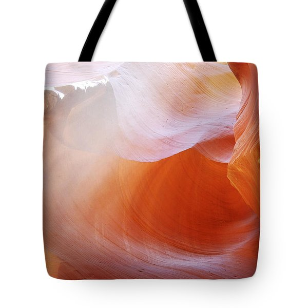 Antelope Canyon Light Beams - Unearthly Beauty Tote Bag by Christine Till