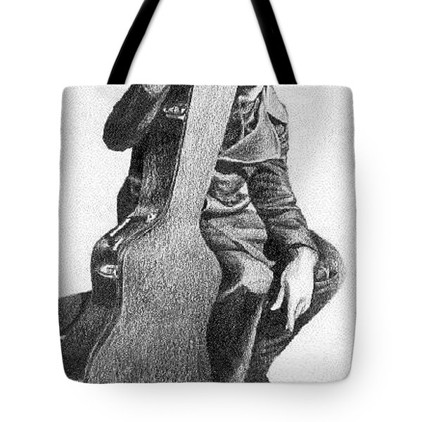 Tote Bag featuring the drawing Anthony by Ana Tirolese