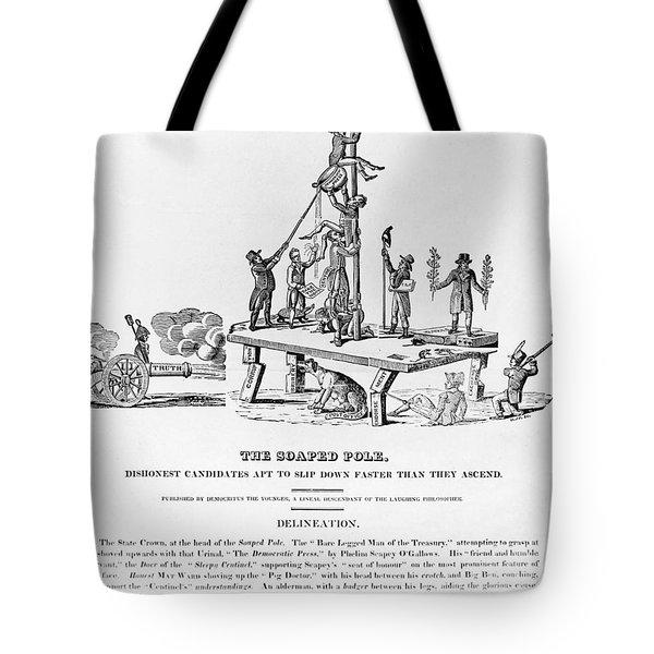 Anti-democrat Cartoon Tote Bag by Granger