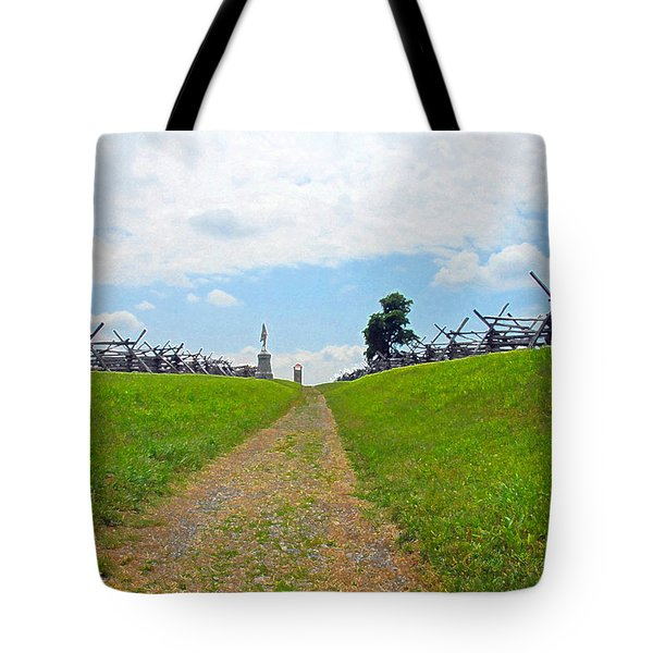 Antietam Battle Of Bloody Lane Tote Bag by Cindy Manero