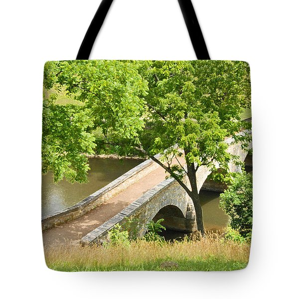Antietam's Burnside Bridge Tote Bag by Cindy Manero