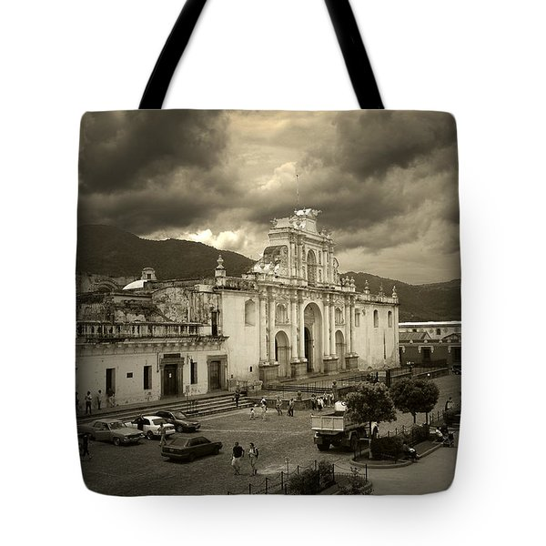 Antigua Cathedral Tote Bag by Tom Bell