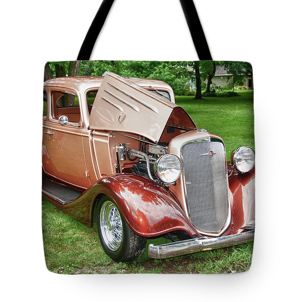 Antique Chevy  7757 Tote Bag by Guy Whiteley