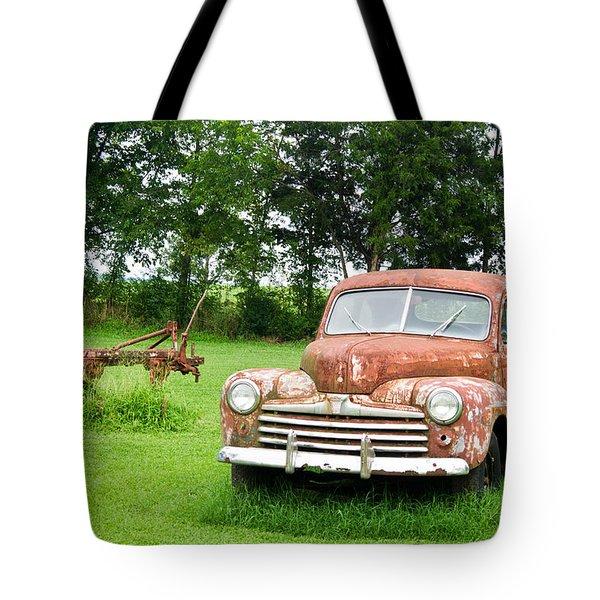 Antique Ford Car 6 Tote Bag by Douglas Barnett
