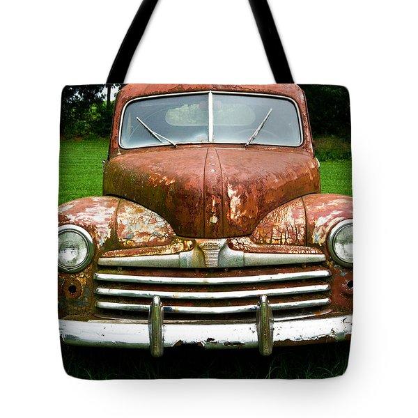Antique Ford Car 8 Tote Bag by Douglas Barnett
